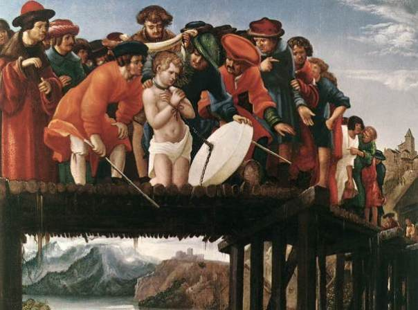 altdorfer - le Martyre St Florian. 1530. Oil on wood. 76 x 67 cm. Uffizi Gallery, Florence, Italy @@