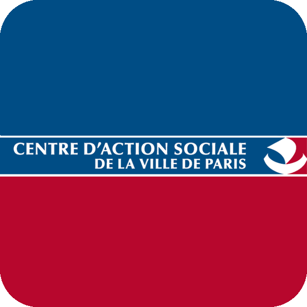 Centre d'Action Sociale de la Ville de Paris logo customisé